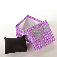 "Коробочка  для украшений ""подушка"" 6 шт. 9/9/6 см"