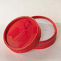 Подарочная коробочка для украшений круглая Красная 12 шт.[8/8/4 см]