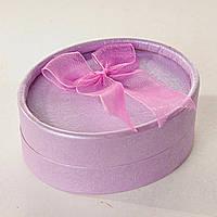 Подарочная коробочка для украшений овальная Пурпур 12 шт. [8/6,5/3 см]