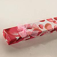 [21/4,5/2 см] Подарочная коробочка для цепочки, браслета Ассорти длинная  12 шт.