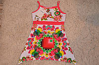 Летнее платье на бретельках для девочек F&D 4-12 лет