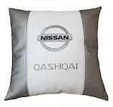Подарок автомобилисту-Подушка с вышивкой логотипа ниссан Nissan, фото 2