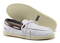 Мокасины Lacoste White and Coffee - 1299