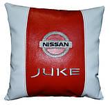 Подарок автомобилисту-Подушка с вышивкой логотипа ниссан Nissan, фото 3