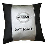 Подарок автомобилисту-Подушка с вышивкой логотипа ниссан Nissan, фото 4