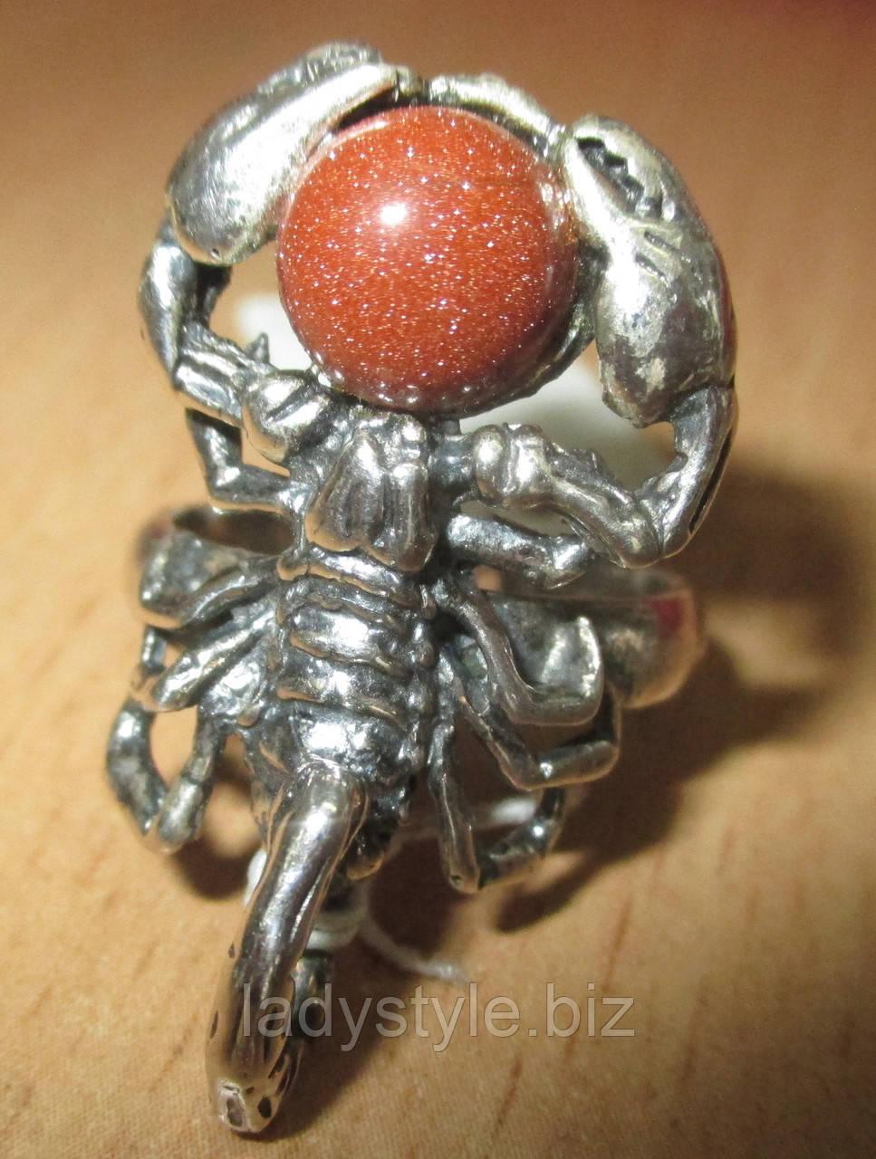 Кольцо СКОРПИОН (авантюрин) от Сtудии Леди Стиль. www.LadyStyle.Biz
