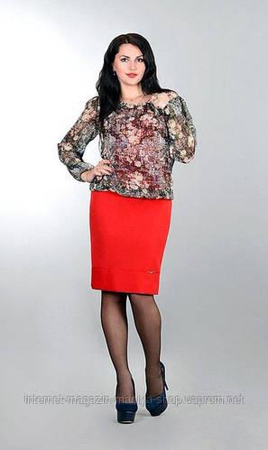 Платье женское футляр полу батал