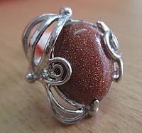 Кольцо с авантюрином от Студии LadyStyle.Biz