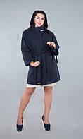 Пальто женское батал короткий рукав+ пояс