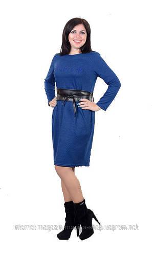 Платье женское с поясом полу батал