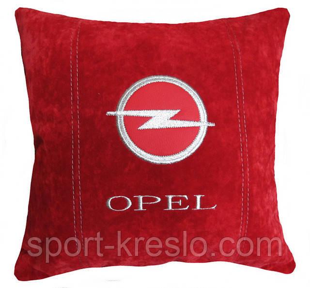 Подушка подарок автолюбителю декоративная с логотипом опель Opel