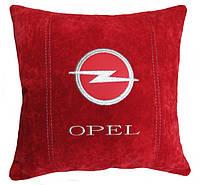 Подушка подарок автолюбителю декоративная с логотипом опель Opel, фото 1
