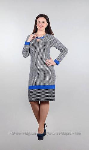 Платье женское украшение полу батал