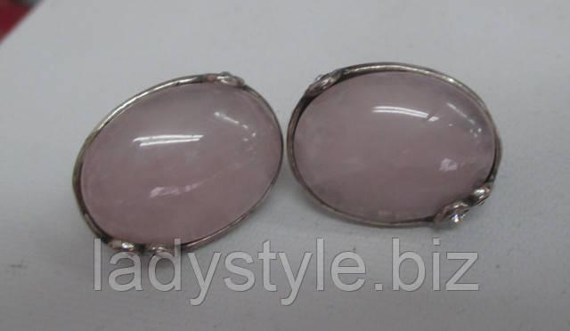 украшения серебро розовый кварц купить серьги подарок