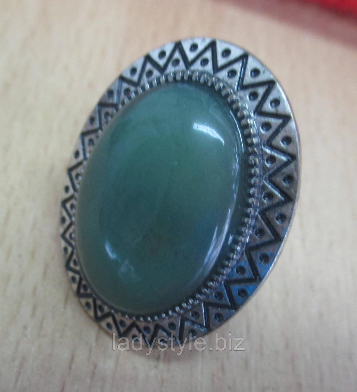 Перстень с нефритом от студии LadyStyle.Biz, фото 1