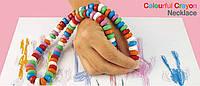 Карандаши мелки colourful crayon 84 шт. бусы цветные для рисования