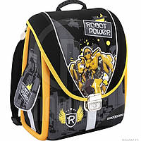 "Ранцы CF16 CF85456 серо-желтый ""Robot Power""  35,5х28х21 см, каркасний-трансформер,ортоп. спинка, 1-4 класс"