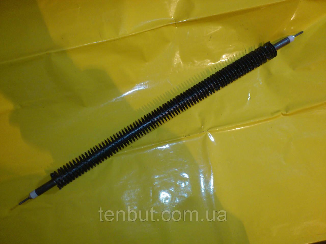 Тэн воздушный оребрённый прямой Ф-13 мм./ L-55 см./ 1.0 кВт. чёрный металл