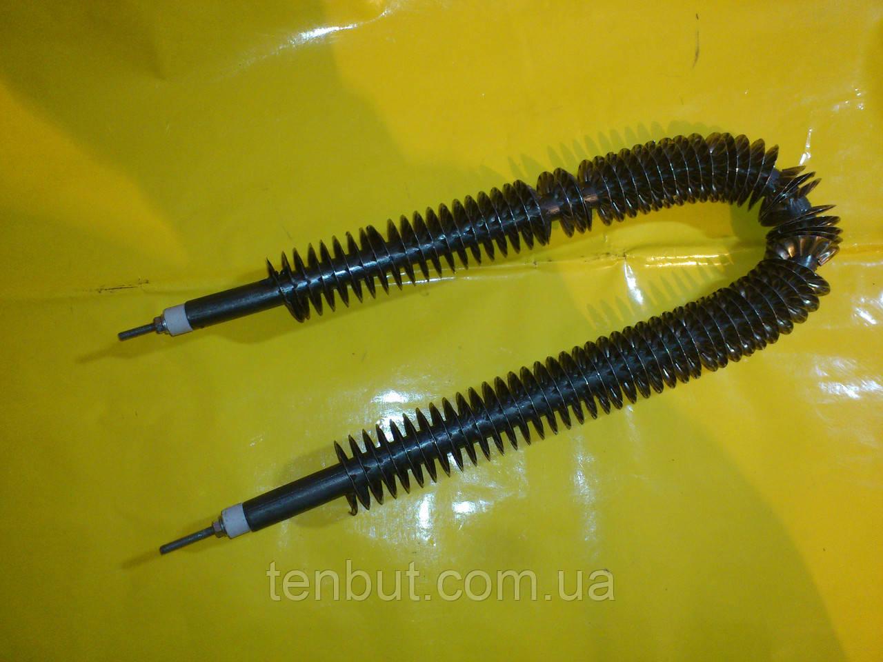 Тэн воздушный оребрённый дуга Ф-13 мм./ L-45 см./ 1.0 кВт. чёрный металл