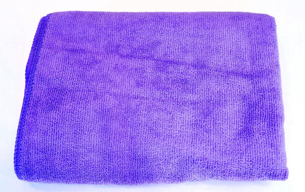 Полотенце из микрофибры 35*75 см, 300 г/м2, фиолетовый