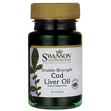 Double-Strength Cod Liver Oil Swanson 30 Sgels