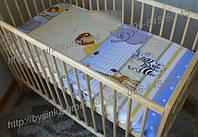 Простынь в детскую кроватку на резинке «Мадагаскар»
