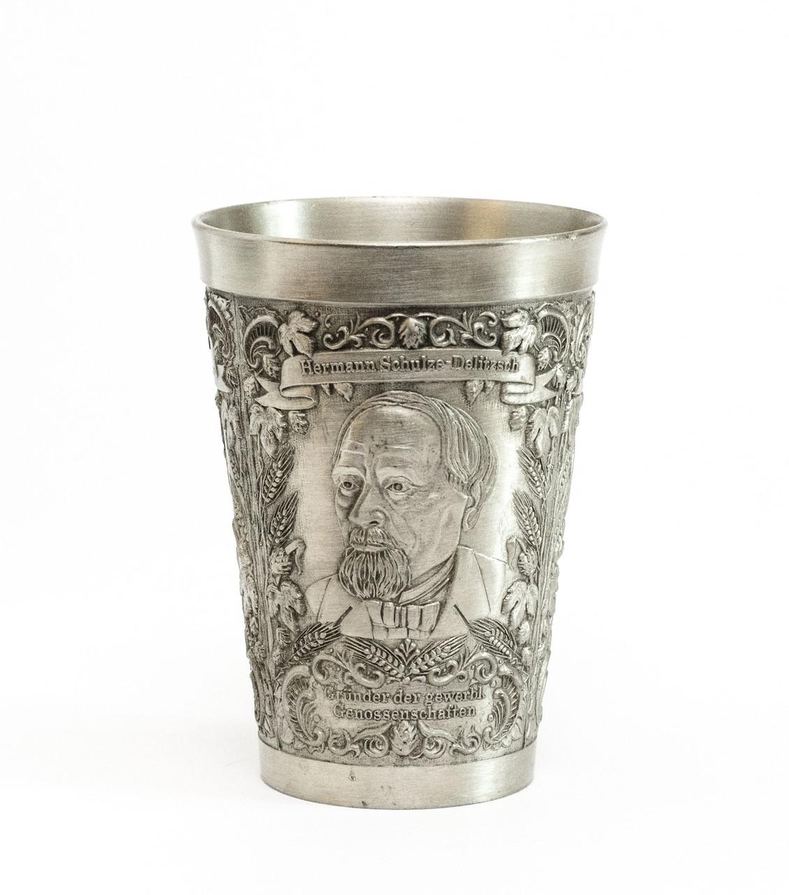Коллекционный оловянный бокал, пищевое олово, Германия,150 мл