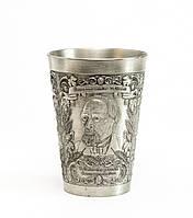 Коллекционный оловянный бокал, пищевое олово, Германия,150 мл, фото 1