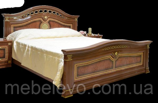 Кровать Диана 160 2сп 1130х1800х2150мм орех лак Світ Меблів