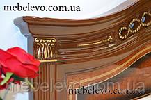 Кровать Диана 160 2сп 1130х1800х2150мм орех лак Світ Меблів, фото 3