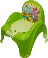 Детский горшок-кресло Веселка Сафари SF-10 салатовый Tega  60264