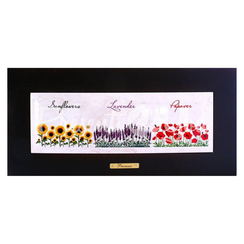 Панно настенное горизонтальное «Прованс. Цветы», 10х30, 18х38 см.