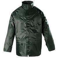 Куртка из мягкого ПВХ с полиамидом, влагостойкая, зеленая. Размеры XL, XXL