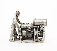 Скульптура миниатюра, станочник, олово, Germany, фото 1