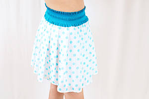 7d0202ed527 Красивая нарядная летняя шифоновая юбка солнце-клеш на девочку в горошек