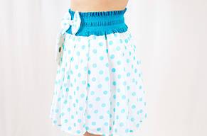 6002f0376bc Красивая нарядная летняя шифоновая юбка солнце-клеш на девочку в горошек