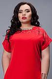"""Стильное  платье, декорировано гипюром  - """"Мария"""" код 502, фото 5"""