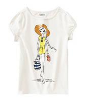Стильная футболка на девочку 5-6, 7-8 лет  Crazy8 (США)