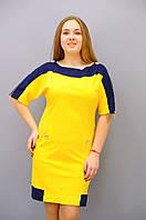 Красивое и удобное летнее платье прямого пошива размеры 50, 52, 54, 56, 58, 60, 62, 64, фото 1