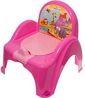 Детский горшок-кресло Веселка Сафари SF-10 розовый Tega  60263