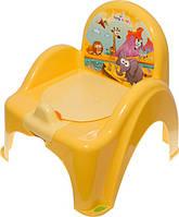 Детский горшок-кресло Веселка Сафари SF-10 желтый Tega  60261