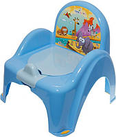Детский горшок-кресло Веселка Сафари SF-10 голубой Tega  60262