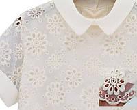 Блуза женская с вышивкой с коротким рукавом