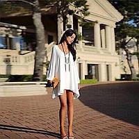 Платье женское короткое шифоновое свободного покроя P2707