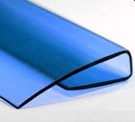 Профиль торцевой П-образный, 8 мм зеленый,синий