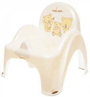 Детский горшок-кресло Веселка TEDDY BEAR MS-012 белый Tega 576