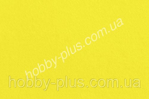 Фетр мягкий 1.4 мм, ЛИМОННЫЙ ЖЕЛТЫЙ, 20x30 см, Hobby&You