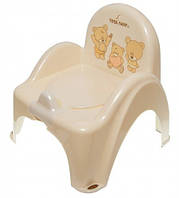 Детский горшок-кресло Веселка TEDDY BEAR MS-012 бежевый Tega  60257