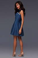 Платье женское короткое джинсовое в горошек P2708