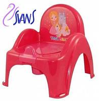 Детский горшок-кресло Веселка Принцесы LP-007 малиновый Tega  60256